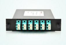 12 Fibers OM4 MTP-LC Cassette