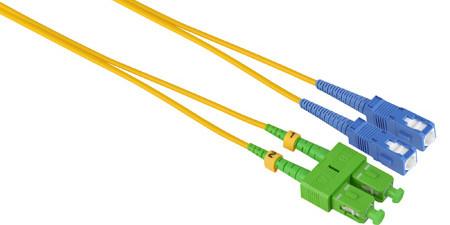 UPC APC fiber optic patch cable