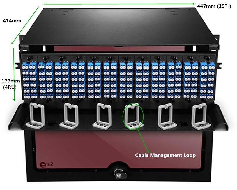 High Density 4RU Rack Mount Fiber Enclosures