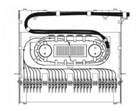 splice tray and fiber adapter panels