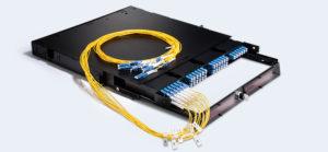 1U fiber enclosure with four LC Duplex cassettes