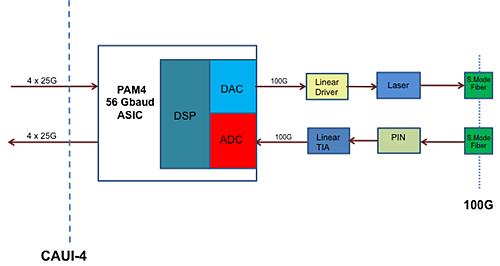 single wavelength 100G PAM4