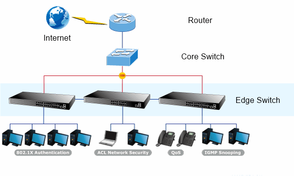 core-edge switch connectivity