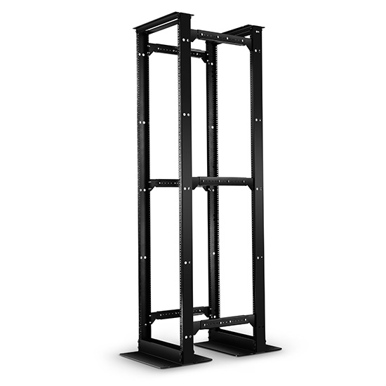 floor-standing open frame server rack