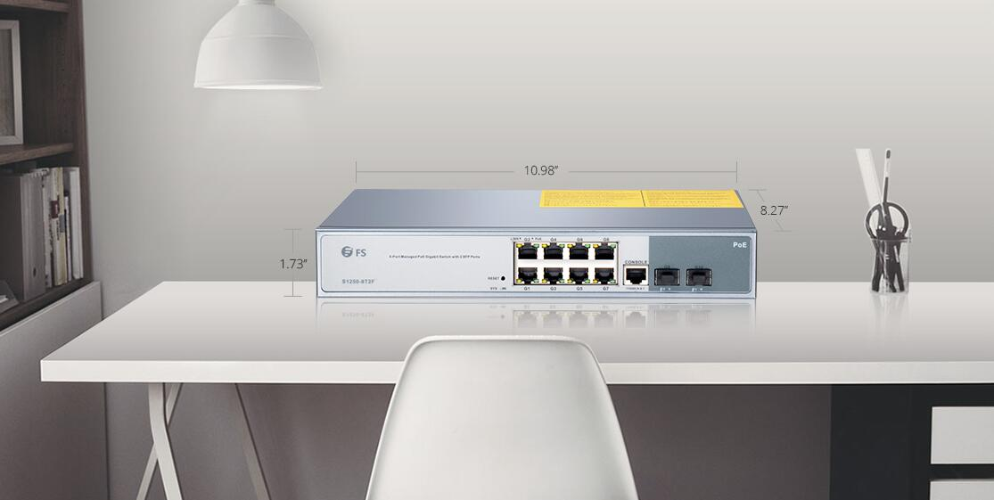 FS 8-port Gigabit PoE+ managed switch