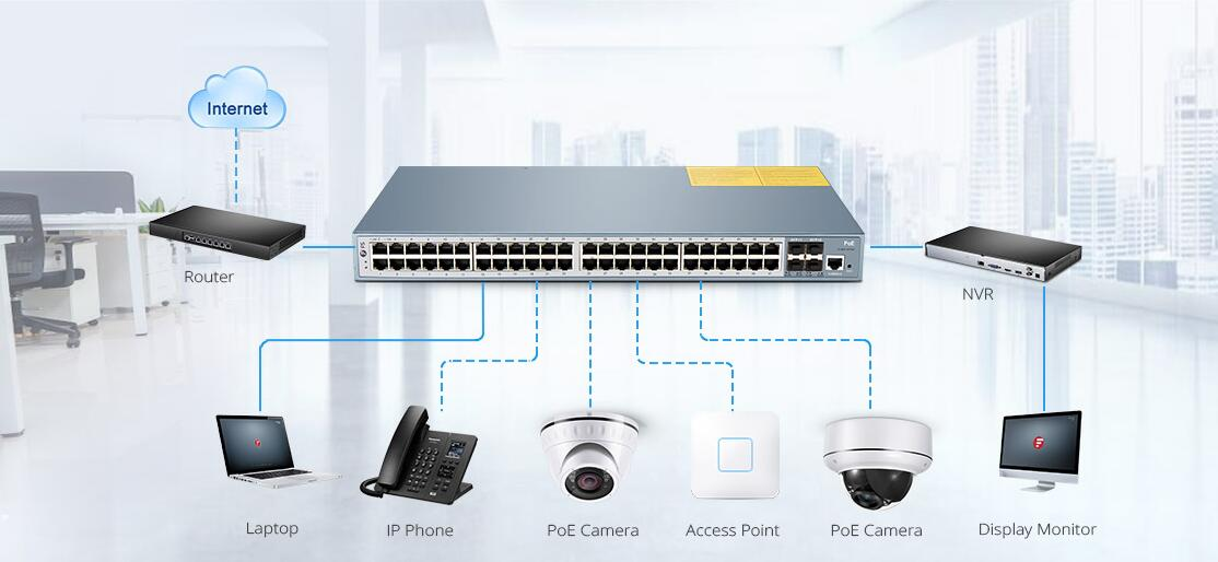 power over Ethernet switch applications